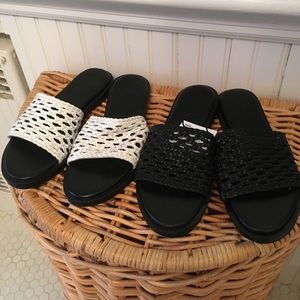 2 Pairs of Urban Outfitters Leather Slides Size 7